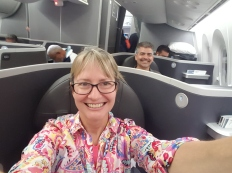 Yes, the spoiled Americans got to come over in Business Class!
