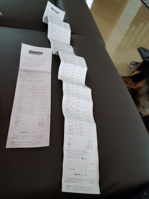 Costco receipts, trip 1.5, take 2